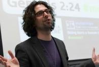 Jordan Shapiro in the classroom.