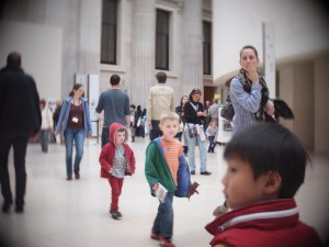 Children at the British Museum. Photo by Bjorn Glesenbauer