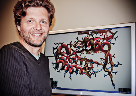 Popovic with his original game FoldIt.