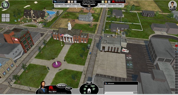 Government in Action is one of the games McGraw-Hill has used to engage high school and college students about government,