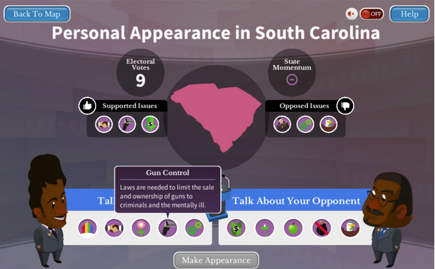 Win the White House offers students a Common Core-aligned civics game.