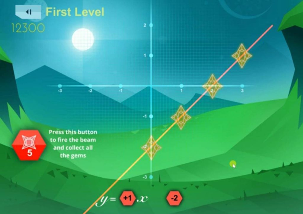 A screenshot of the game xPonum that was used in the New York test.